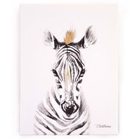 CHILDHOME Oil Painting 30x40cm Zebra