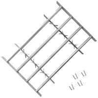 Adjustable Security Grille for Windows with 4 Crossbars 1000-1500 mm