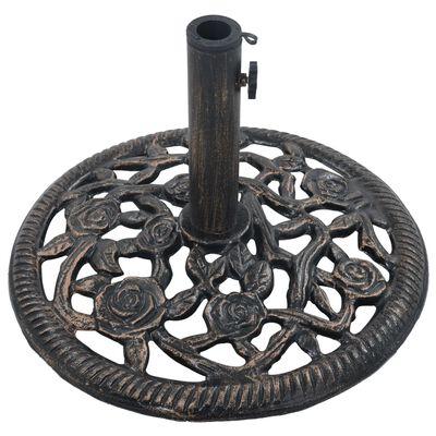 vidaXL Umbrella Base Bronze 12 kg 48 cm Cast Iron
