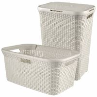 Curver Style Hamper and Laundry Basket White 105 L 240657