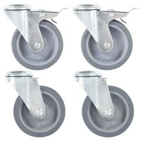 vidaXL 12 pcs Bolt Hole Swivel Casters 100 mm