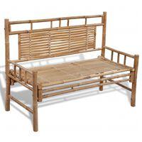 vidaXL Garden Bench 120 cm Bamboo