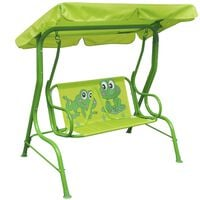 vidaXL Kids Swing Seat Green