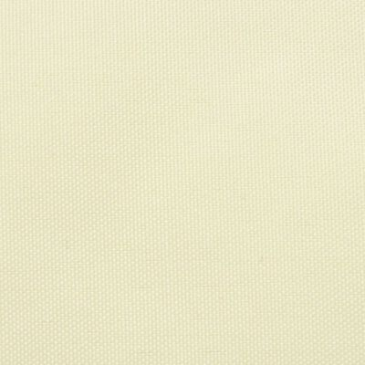 vidaXL Sunshade Sail Oxford Fabric Triangular 4x4x4 m Cream