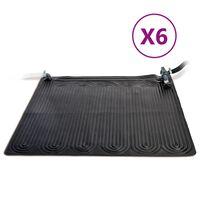 Intex Solar Heating Mats 6 pcs PVC 1.2x1.2 m Black