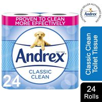 Andrex Toilet Roll Classic White Fragrance-free 2 Ply, 24 Rolls
