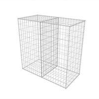 vidaXL Gabion Basket Galvanised Steel 100x50x100 cm