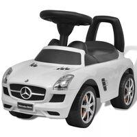 vidaXL Mercedes Benz Foot-Powered Kids Car White