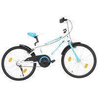 vidaXL Kids Bike 20 inch Blue and White