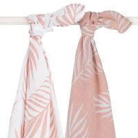 Jollein Hydrophilic Multifunctional Cloth 2 pcs Nature 115x115 cm Pale Pink