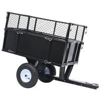 vidaXL Tipping Trailer for Lawn Tractor 150 kg Load