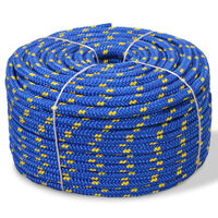 vidaXL Marine Rope Polypropylene 6 mm 100 m Blue