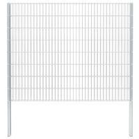 vidaXL 2D Gabion Fence Galvanised Steel 2.008x1.63 m 8 m (Total Length) Silver