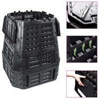 vidaXL Garden Composter Black 93.3x93.3x113 cm 740 L