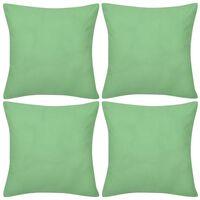 4 Apple Green Cushion Covers Cotton 40 x 40 cm