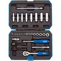 "Draper Tools 47 Piece Metric Drive Socket Set 1/4"" 16355"