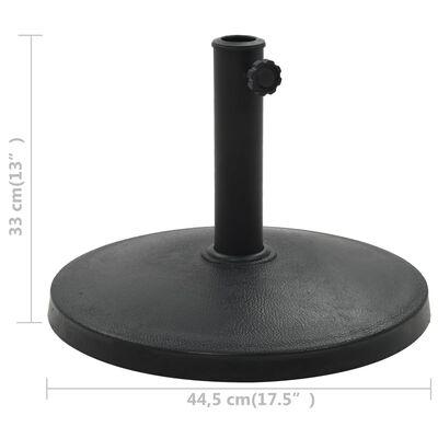 vidaXL Parasol Base Round Polyresin 10 kg Black