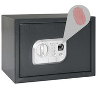 vidaXL Digital Safe with Fingerprint Dark Grey 35x25x25 cm