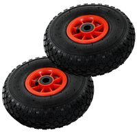 vidaXL Sack Truck Wheels 2 pcs Rubber 3.00-4 (260x85)
