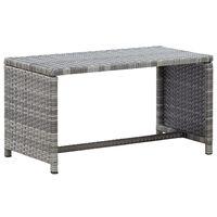 vidaXL Coffee Table Anthracite 70x40x38 cm Poly Rattan