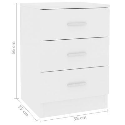 vidaXL Bedside Cabinets 2 pcs White 38x35x56 cm Chipboard