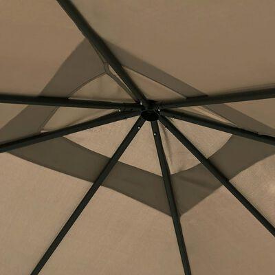 vidaXL Gazebo 3x3x2.6 m Taupe 160 g/m²