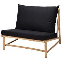 ProGarden Chair Bamboo with Black Pillow
