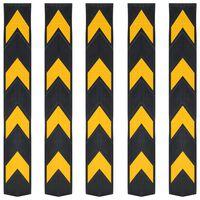 vidaXL Reflective Corner Guards 5 pcs Rubber 80 cm