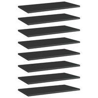 vidaXL Bookshelf Boards 8 pcs High Gloss Black 60x30x1.5 cm Chipboard