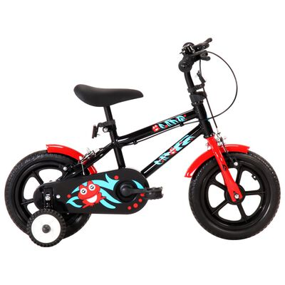 This stylish and sturdy kids' bike with 12-inch wheels is a perfect gift for your child. Equipped with height-adjustable saddle and handle bar, the bicycle will provide years of fun.