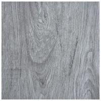 vidaXL Self-adhesive Flooring Planks 5.11 m² PVC Light Grey