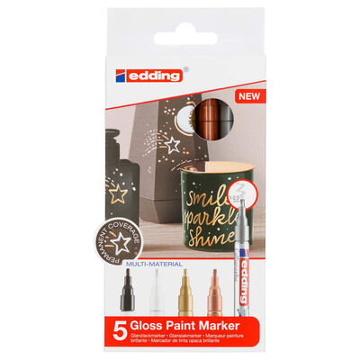 edding Gloss Paint Marker 5pcs Multicolour 753