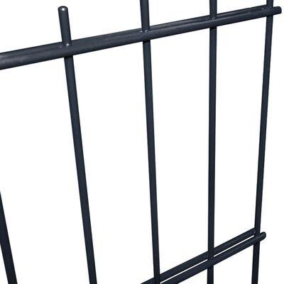 vidaXL 2D Garden Fence Panels & Posts 2008x1030 mm 4 m Grey