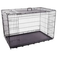 FLAMINGO Wire Cage with Sliding Door Nyo XXL 124x77x81.5 cm Black