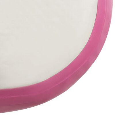 vidaXL Inflatable Gymnastics Mat with Pump 500x100x15 cm PVC Pink