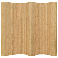 vidaXL Room Divider Bamboo 250x165 cm Natural