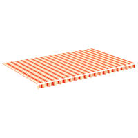 vidaXL Replacement Fabric for Awning Yellow and Orange 5x3 m