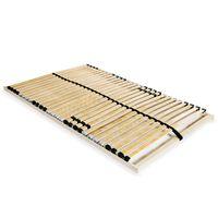 vidaXL Slatted Bed Base with 28 Slats 7 Zones 100x200 cm