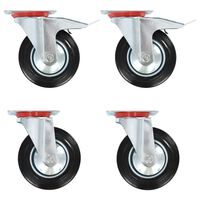 vidaXL 12 pcs Swivel Casters 160 mm