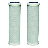 2 x 10 Inch Carbon Water Filter Cartridges Fits All 10 Inch Housings