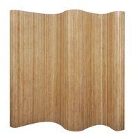 vidaXL Room Divider Bamboo Natural 250x165 cm