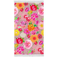 Happiness Beach Towel WOODSTOCK 100x180 cm Multicolour