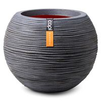 Capi Vase Nature Rib Ball 62x48 cm Dark Grey
