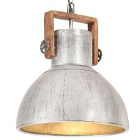 vidaXL Industrial Hanging Lamp 25 W Silver Round 40 cm E27