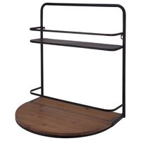 Ambiance Wine Bar with Foldable Shelf 56x42x61.5 cm