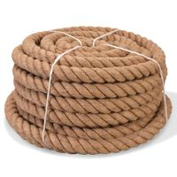 vidaXL Rope 100% Jute 14 mm 250 m