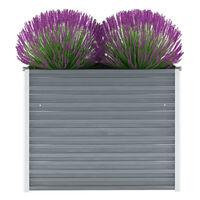vidaXL Garden Raised Bed Galvanised Steel 100x40x77 cm Grey
