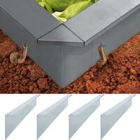 vidaXL Snail Fence Plates 4 pcs Galvanised Steel 170x7x25 cm 0.7 mm