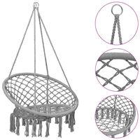 vidaXL Hammock Swing Chair 80 cm Grey