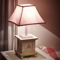 Fantasy Fields Childrens Crackled Rose Bedside Night Light Table Lamp